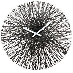 Koziol Zegar ścienny czarny silk (4002942188231)