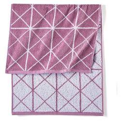 Ręcznik w graficzny wzór bonprix dymny lila