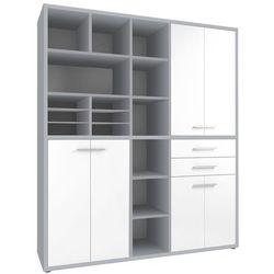 Maja-möbel Regał biurowy set+ 216x191 cm, szary-biały, mdf, 16916346