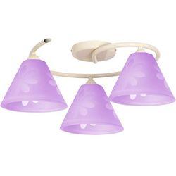 Plafon lampa sufitowa do pokoju dziecięcego Aldex Tęcza 3x60W E27 fiolet 626E, 626E
