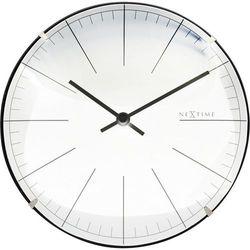 Nextime - zegar stojący/ścienny big stripe mini dome - biały