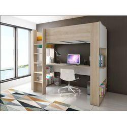 Vente-unique Łóżko antresola noah z biurkiem i półkami – 90 × 200 cm