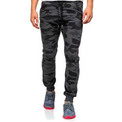 Moro-antracytowe spodnie dresowe męskie Denley 0415, spodnie męskie ATHLETIC