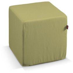 Dekoria  pokrowiec na pufę kostke, oliwkowy a'la zamsz, kostka 40x40x40 cm, living