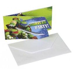 Amscan Zaproszenia urodzinowe wojownicze żółwie ninja - 6 szt.