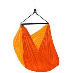 - zunzun sunrise - podróżny fotel hamakowy, pomarańczowy - pomarańczowy marki Lasiesta