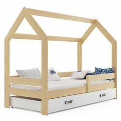 Sosnowe łóżko domek do pokoju dziecięcego 80x160 - Bambino