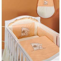 MAMO-TATO pościel 2-el Tulisie brzoskwiniowe do łóżeczka 70x140cm