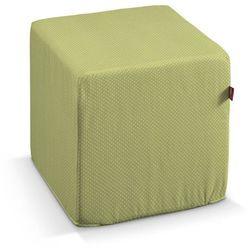 pokrowiec na pufę kostke, zielona w kropeczki, kostka 40x40x40 cm, ashley marki Dekoria