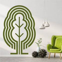 Wally - piękno dekoracji Szablon na ścianę drzewo abstrakcja 2537