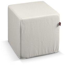 Dekoria Pokrowiec na pufę kostke, naturalna surówka, kostka 40 × 40 × 40 cm, Loneta