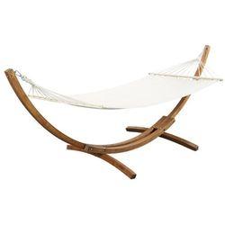 Hamak manille z drewna i bawełny – tkanina w kolorze białym – dł. 310 cm marki Vente-unique