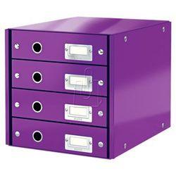 Leitz Pojemnik click&store z 4 szufladami fioletowy 60490082