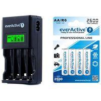 ładowarka everActive NC-450 Black + 4 x R6/AA everActive 2600