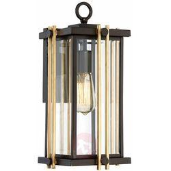 Quoizel Elewacyjna lampa ścienna goldenrod qz/goldenrod2/m elstead zewnętrzna oprawa ogrodowy kinkiet klatka ip44 brąz złota (5024005343615)