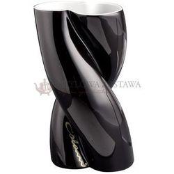 Weimar porzellan Wazon czarny niski 20 cm ab ovo colani