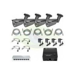 ZESTAW DO MONITORINGU IP ''EURA PRO'' MSP-11C5 (1,3 Mpx) 4 x kamera CBA-22C5,rejestrator mini 4 kanałowy, switch, 4 x zasilacz, 4 x adapter PoE, skrętka - oferta (351fd9a2afb307af)