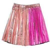 Outfit Kids METALLIC PLEATED SKIRT Spódnica plisowana pink, kolor różowy
