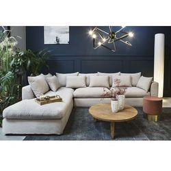 Sofa narożna lewostronna nicea beżowa - beżowy marki 9design