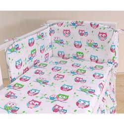 MAMO-TATO pościel 2-el Sówki białe do łóżeczka 60x120cm