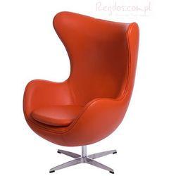 Fotel Jajo pomarańczowa skóra #67, towar z kategorii: Krzesła i stoliki