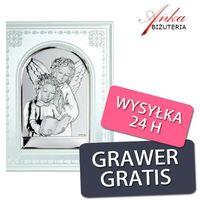 Prezent na komunię -obrazek srebrny na szkle marki Valenti & co