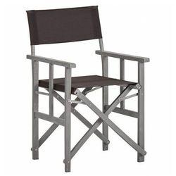 Krzesło reżyserskie ogrodowe martin - czarne marki Edinos premium