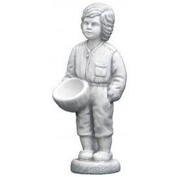 Figura ogrodowa betonowa chłopiec z doniczką 67cm