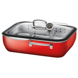 Silit - brytfanna z wkładem do gotowania na parze Ecompact Energy Red - czerwony (4004633284772)