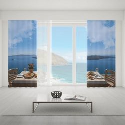 Zasłona okienna na wymiar komplet - DINNER IN PARADISE