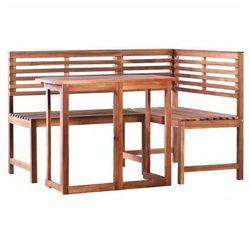 Elior Zestaw drewnianych mebli ogrodowych alyssa - brązowy