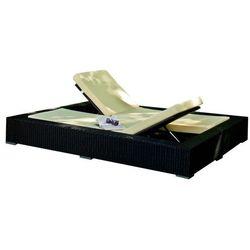 Ekskluzywne łóżko ogrodowe duo z technorattanu czarny marki Bello giardino