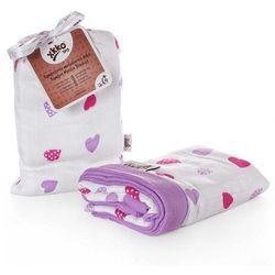 Kikko/xkko Bambusowa kołdra dziecięca 100x100 xkko lilac hearts - lilac hearts