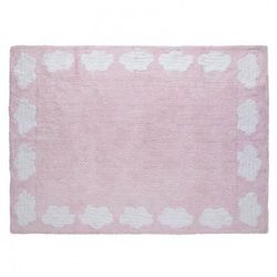 Lorena canals Dywan do prania w pralce cenefa nubes rosa/pink, kategoria: dywany dla dzieci