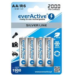 4x akumulatorki everActive R6/AA Ni-MH 2000 mAh ready to use (5902020523642)