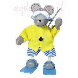 Elastyczna kukiełka, mysz w podróży z kategorii pacynki i kukiełki