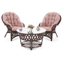 Home & garden Meble ogrodowe rattanowe diego brown / cappuccino 2+1 (5902425328002)