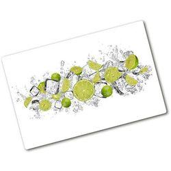 Deska do krojenia hartowana Limonka kostki lodu