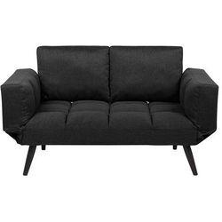 Beliani Sofa rozkładana tapicerowana czarna brekke (4251682207690)