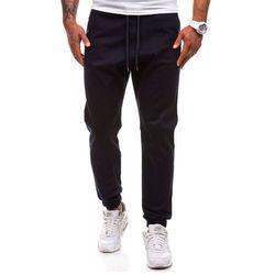 Granatowe spodnie joggery męskie Denley 0449-1 - GRANATOWY