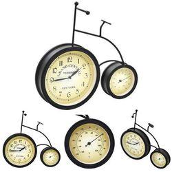 Zegar ogrodowy z termometrem, w kształcie roweru, vintage marki Vidaxl