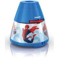 Philips Disney - lampka nocna projektor led niebieski spiderman wys.11,8cm