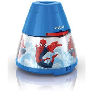 Philips Disney - lampka nocna projektor led niebieski spiderman wys.11,8cm