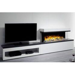 Kominek wolnostojący flamerite fires tropo 1000 link z szafką pod tv. efekt płomienia nitra flame- 20 kolorów ognia -promocja marki Flamerite fires - nowość 2021