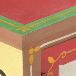 Vidaxl szafka tv, 130x30x36 cm, ręcznie malowana, lite drewno mango