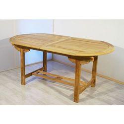 Rozkładalny stół z drewna tekowego Garth owalny 170 - 230 cm