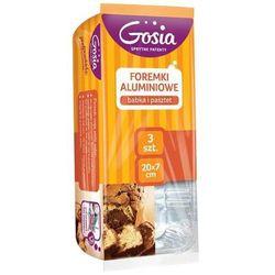 GOSIA 3szt Foremki aluminiowe do ciast i pasztetów