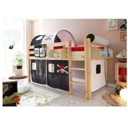 Ticaa kindermöbel Tticaa łóźko piętrowe malte sosna naturalny - pirat czarny/biały