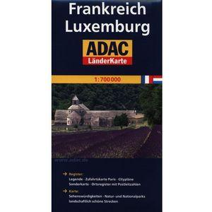 ADAC Frankreich Luxemburg mapa drogowa 1:700 000 (2 str.)