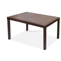Stół technorattanowy houston brązowy marki Bica
